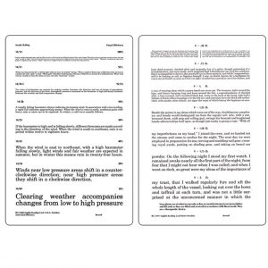 A.M.A. English Reading Card