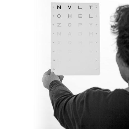 Hamilton -Veale Contrast Sensitivity Test Card