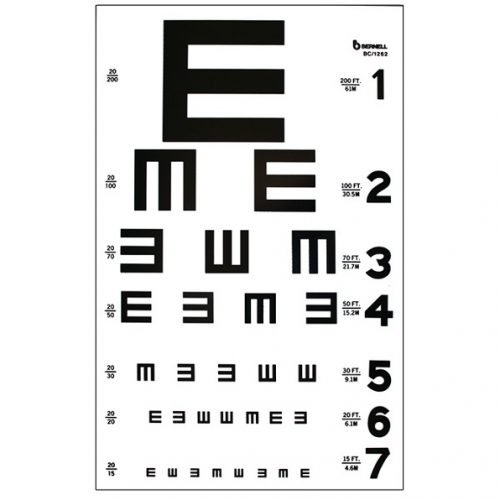 Illiterate 20ft Test Chart