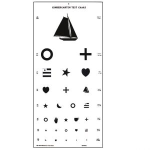 Large Kindergarten Vision Test Chart