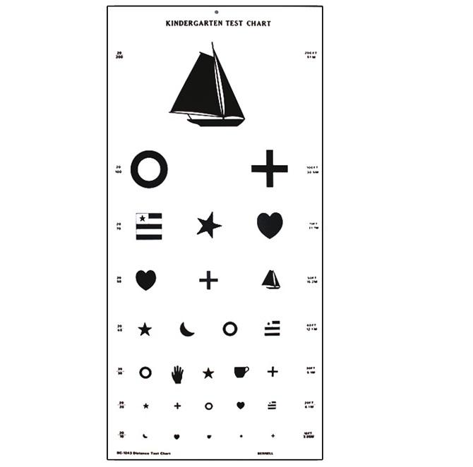 Large Kindergarten Vision Test Chart Ophthalmic Singapore