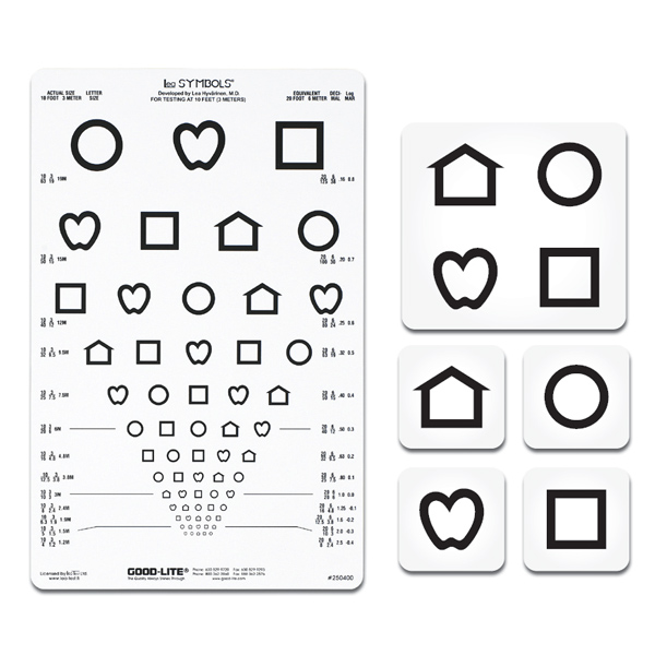 graphic about Children's Eye Chart Printable named Lea Symbols 13-Line Translucent Length Chart Ophthalmic